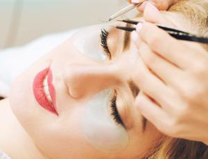 2 Locations: Japanese Eyelash Perm + Eye Bag / Dark Eye Circle Treatment for 1 Person (1 Session) at Skinn