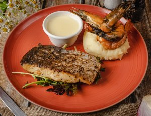 Roast Barramundi+ soft drink + ice cream at PERFECT SPARK F&B PTE.LTD
