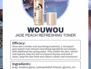 WOUWOU Peach Resin Refreshing Toner