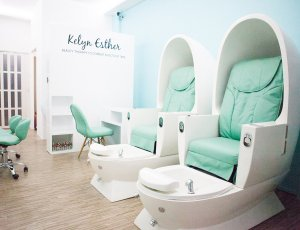 Classic Pedicure + Dead Sea & Organic Foot SPA + 2 Tone + Quick Dry (45mins) at Kelyn Esther