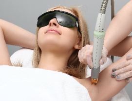 Underarm IPL Hair Removal with Mask Application for 1 Person (12 Sessions) at Skinn