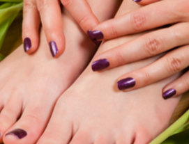 Glamour Beauty: Classic Manicure and Pedicure for 1 Person (3 Sessions) at Hougang Mall
