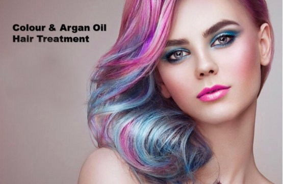 Color & Argan Oil Hair Treatment at Spa Aperial Marine Terrace