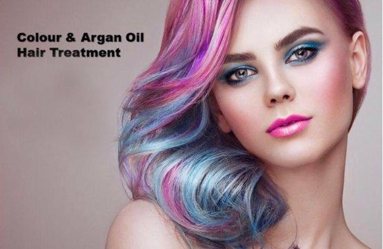 Color & Argan Oil Hair Treatment at Spa Aperial Marine Terrace