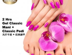 Gel Classic Manicure + Classic Pedicure at Spa Aperial Serangoon