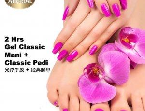 Gel Classic Manicure + Classic Pedicure at Spa Aperial Serangoon