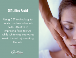 CET lifting facial at Amber Beila Raffles place