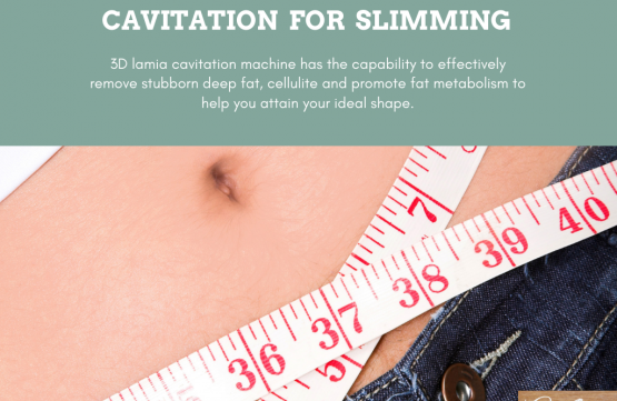 Cavitation for slimming treatment at Amber Beila Raffles place