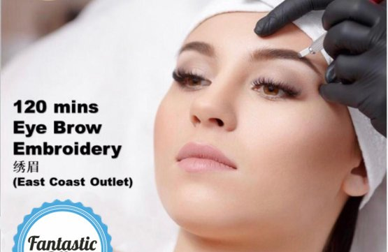 Eyebrow Embroidery (120 mins) at Spa Aperial Serangoon