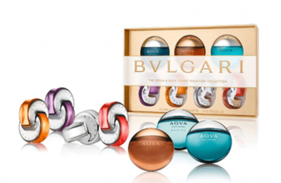 BVLGARI THE OMNIA AND AQVA 7 PCS ICONIC MINIATURE COLLECTION