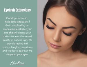 Eyelash Extensions ( Unlimted Strands ) at Amber Beila Raffels place