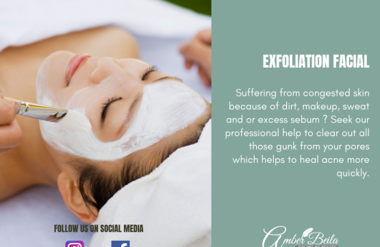 Exfoliation Facial at Amber Beila Raffles place