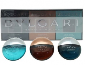 BVLGARI THE AQVA 3 PCS POCKET SPRAY COLLECTION