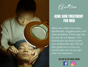 Acne Skin Treatment for men at Amber Beila Raffles place