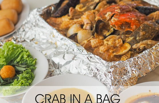 Seafood in a bag for 2 to 3 People at Isteamboat Marina Square