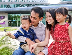 1-Hour Family Outdoor Photoshoot for 2 Adults and 1 Child