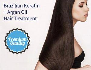 Brazilian Keratin + Argan Oil Hair Treatment at Spa Aperial Marine Terrace