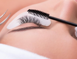 Glamour Beauty: Lash by Lash Extension + Touch-Up + Eyebrow Shaping for 1 Person (1 Session) at Singpost Centre