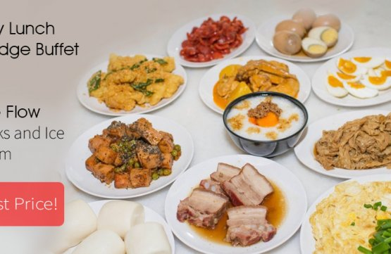 (Fri - Sun, PH, Eve of PH) Lunch Porridge Buffet + Free Flow of Drinks and Ice Cream at iSteamboat Chinese Restaurant