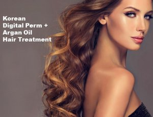 Korean Digital Perm + Argan Oil Hair Treatment at Spa Aperial Serangoon