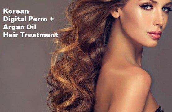 Korean Digital Perm + Argan Oil Hair Treatment at Spa Aperial Serangoon