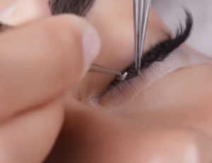 Glamour Beauty: Lash by Lash Extension, Touch-Up and Eyebrow Shaping for 1 Person (1 Session) at Hougang Mall