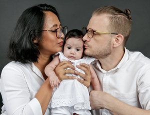 1-Hour Family Studio Photoshoot for 2 Adults and 1 Child