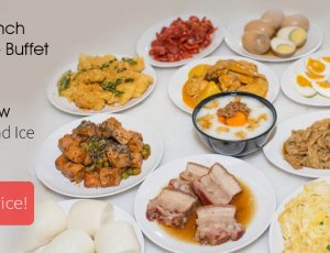 (Mon - Thu) Lunch Porridge Buffet + Free Flow of Drinks and Ice Cream at iSteamboat Chinese Restaurant